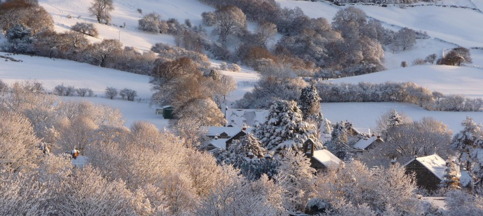 Rosedale Abbey In Winter