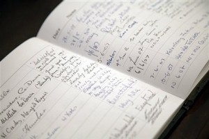 Sevenford House Guest Book