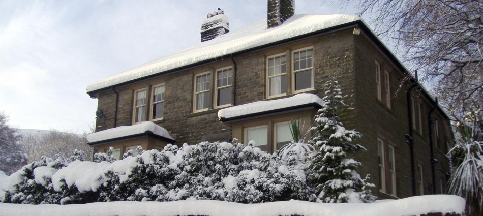 Sevenford House in Snow